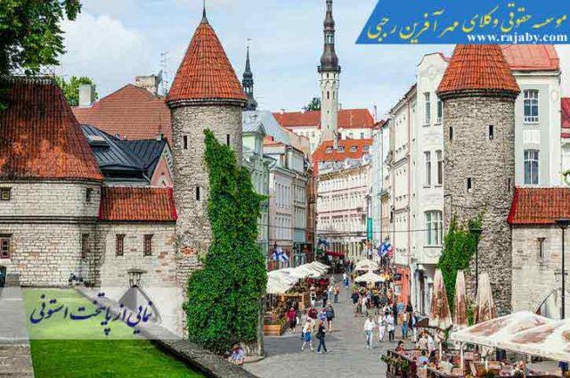 نمایی از پایتخت استونی