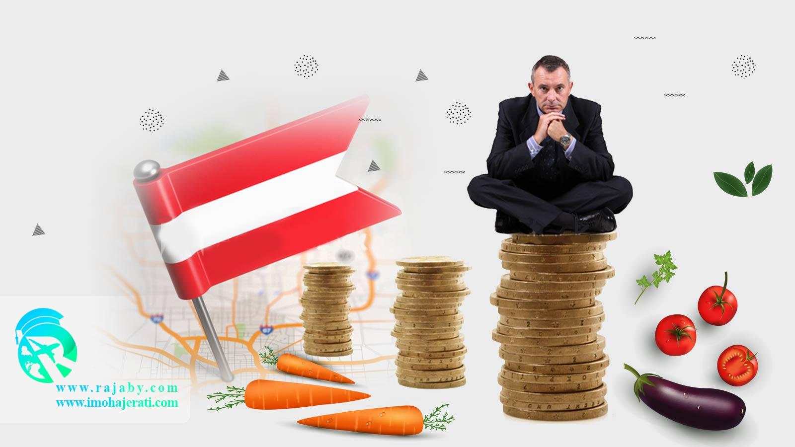هزینه خورد و خوراک در اتریش