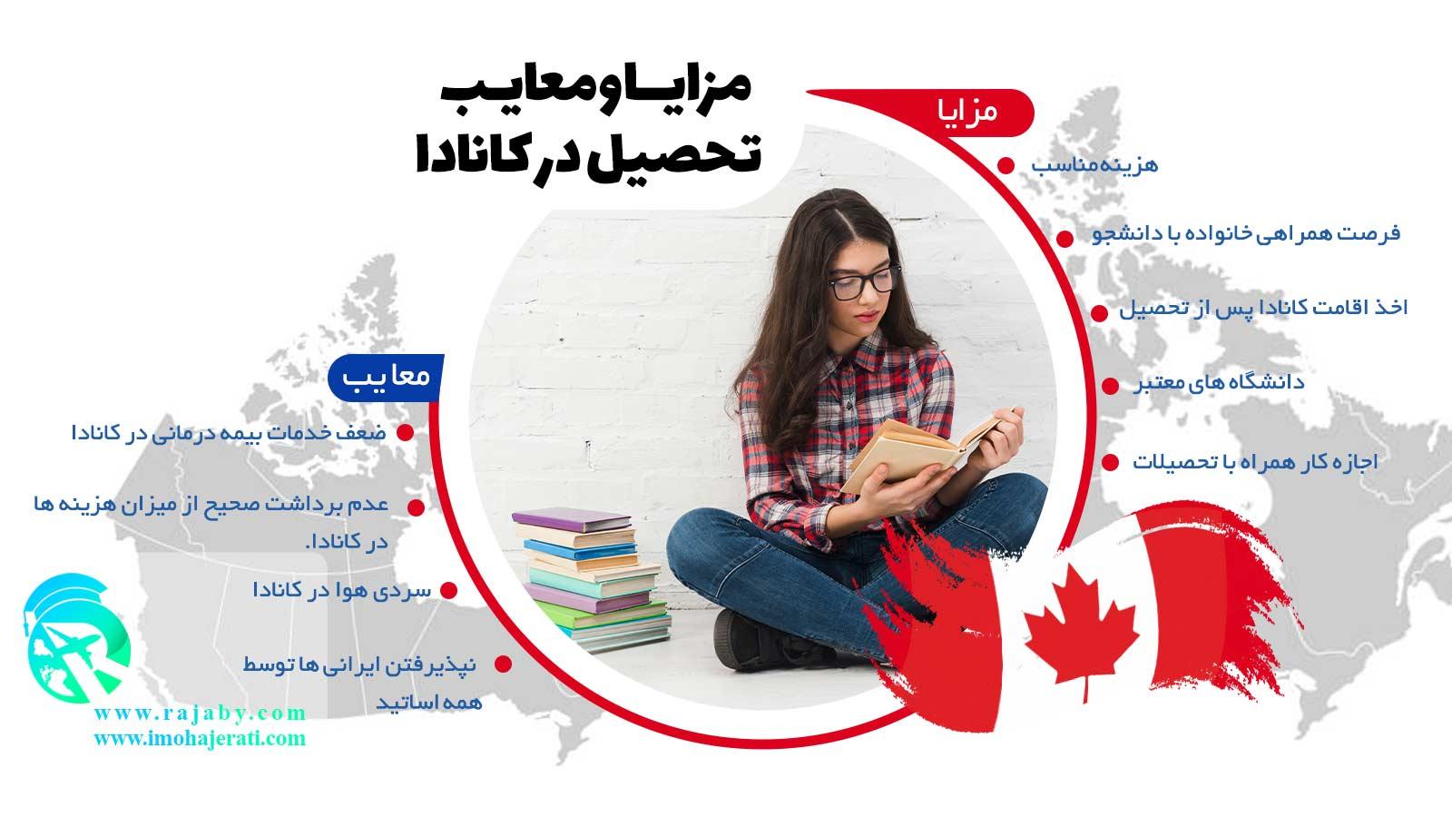 مزایا و معایب تحصیل در کانادا