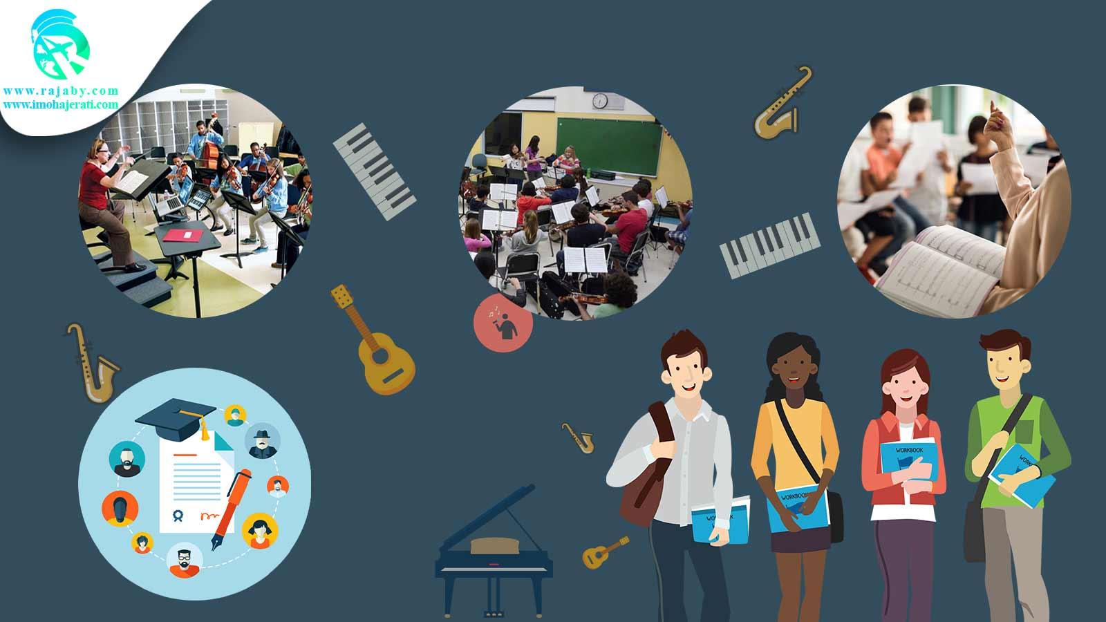 تحصیل موسیقی در خارج از کشور