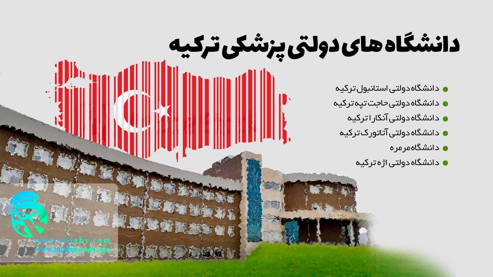 دانشگاه های دولتی پزشکی ترکیه
