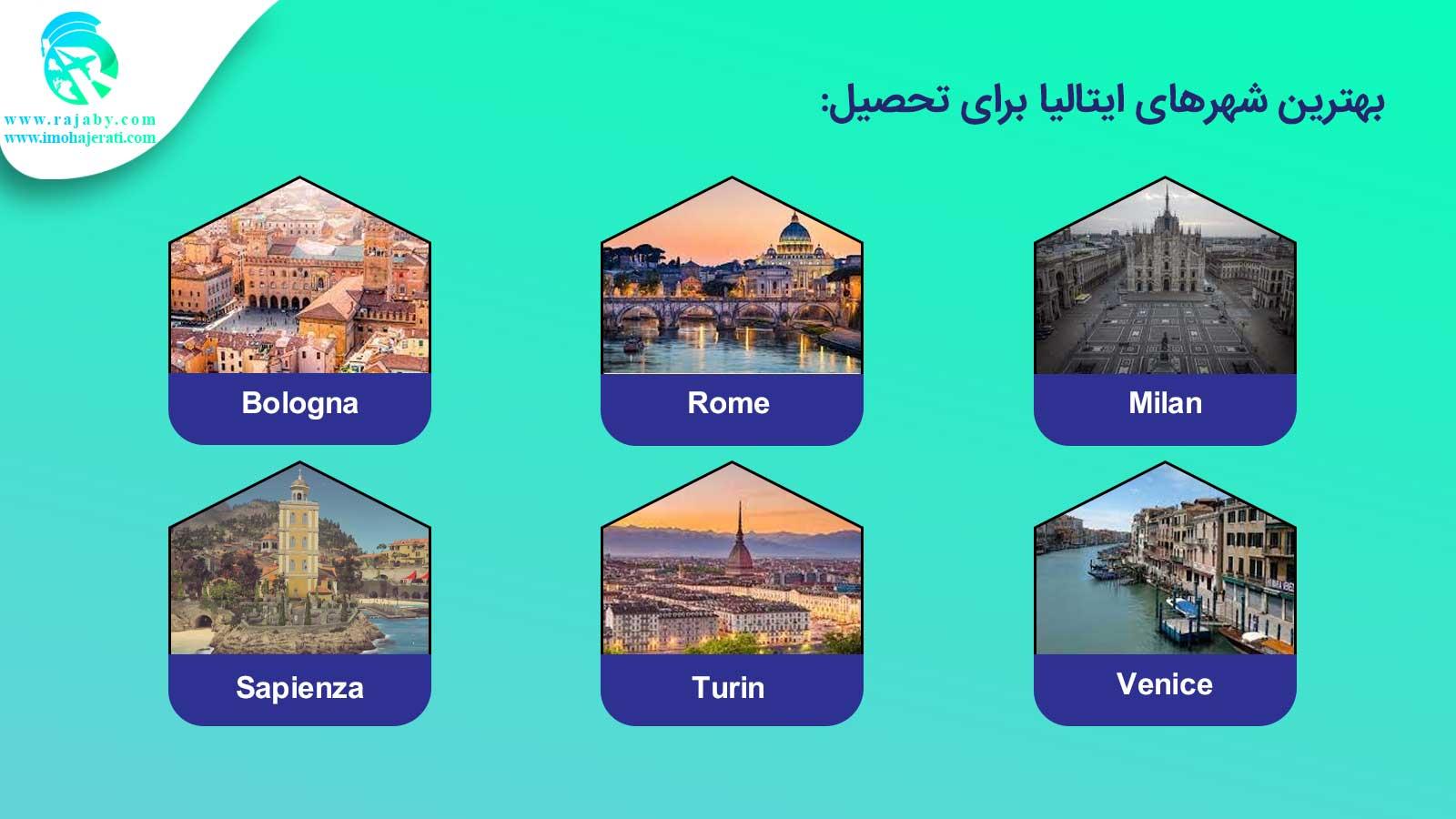 بهترین شهرهای ایتالیا برای تحصیل