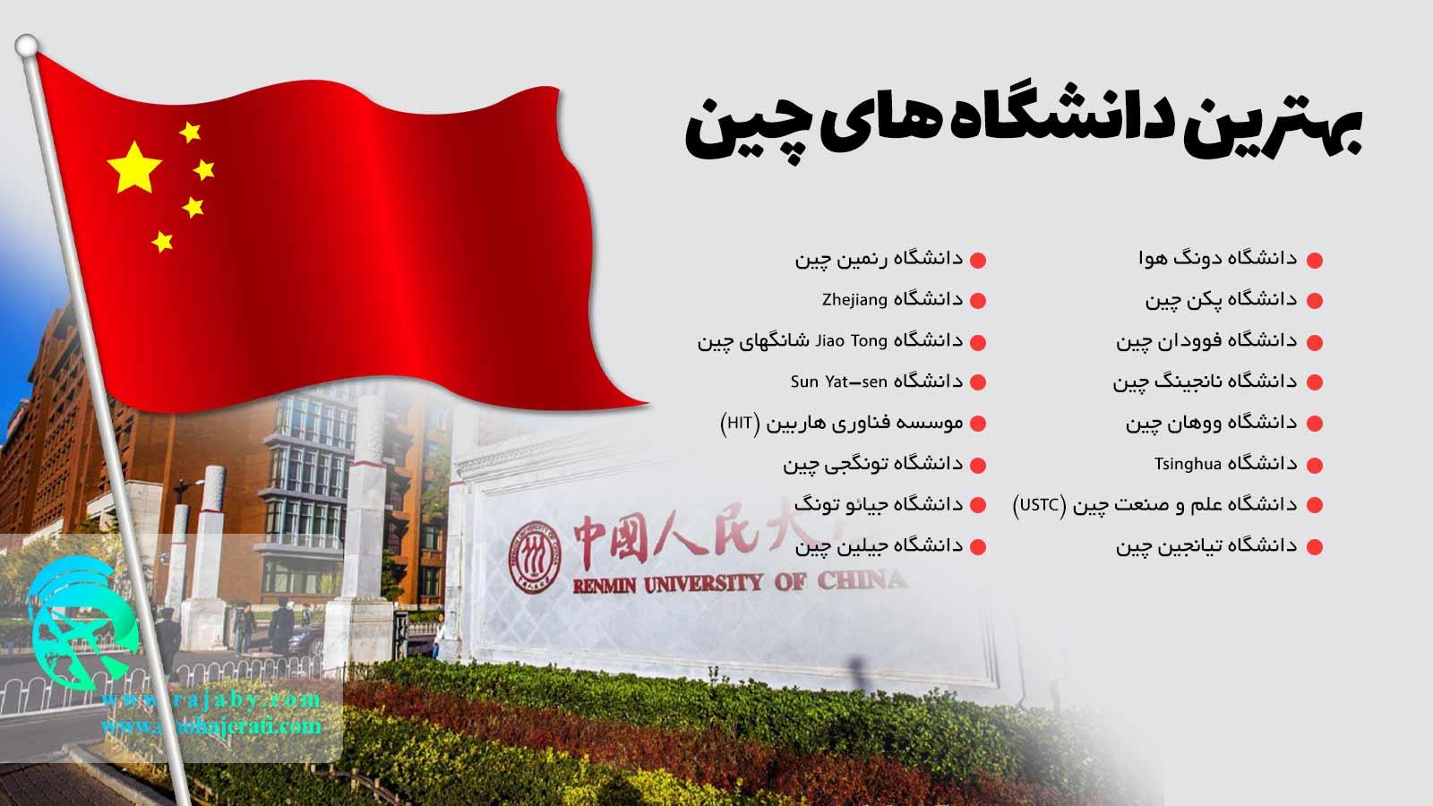 بهترین دانشگاه های چین