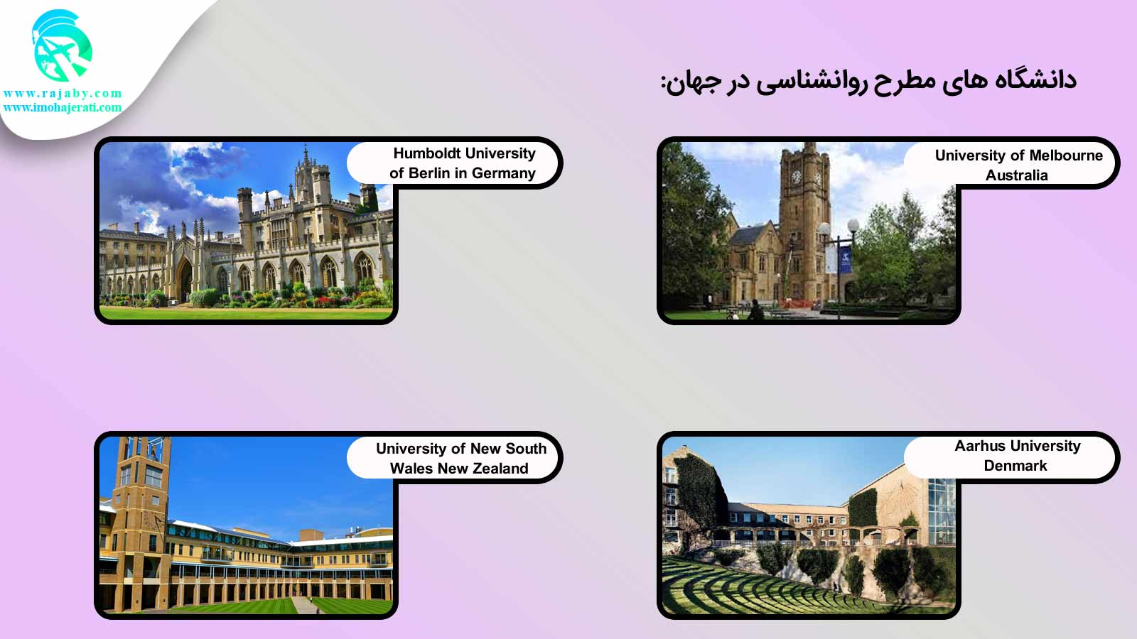 دانشگاه های مطرح روانشناسی در دنیا