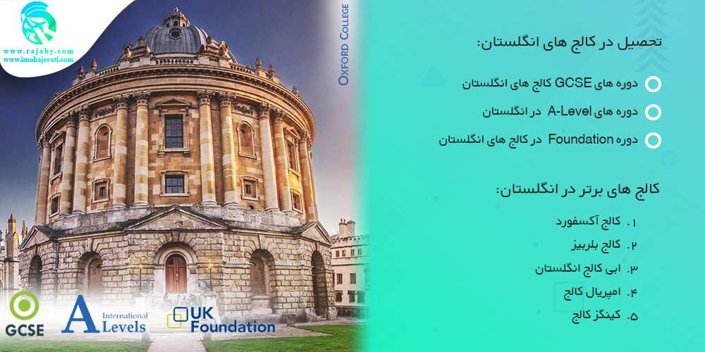 تحصیل در کالج های انگلستان
