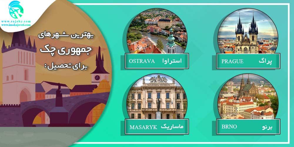 بهترین شهرهای چک برای تحصیل