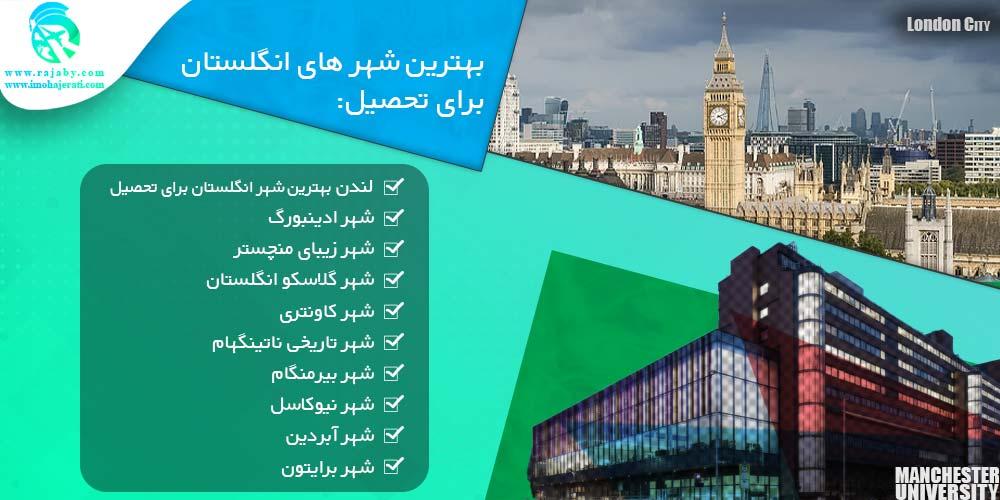 بهترین شهر های انگلستان برای تحصیل
