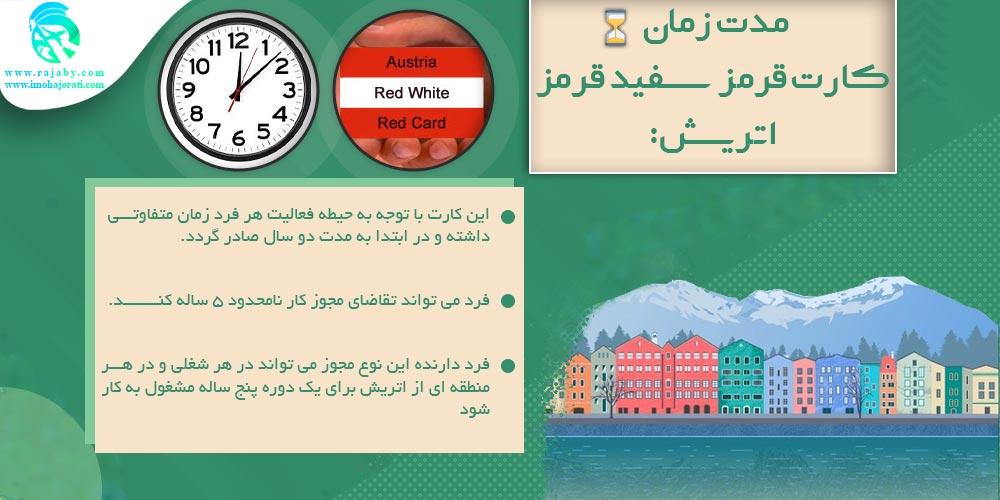 مدت زمان کارت قرمز سفید قرمز اتریش