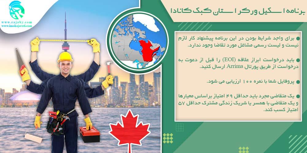 برنامه اسکیل ورکر استان کبک کانادا