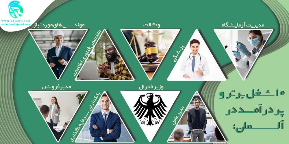 ۱۰ شغل برتر و پر درآمد در آلمان