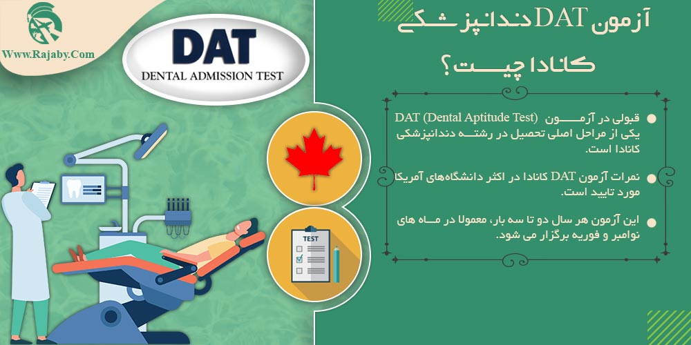 آزمون DAT دندانپزشکی کانادا چیست