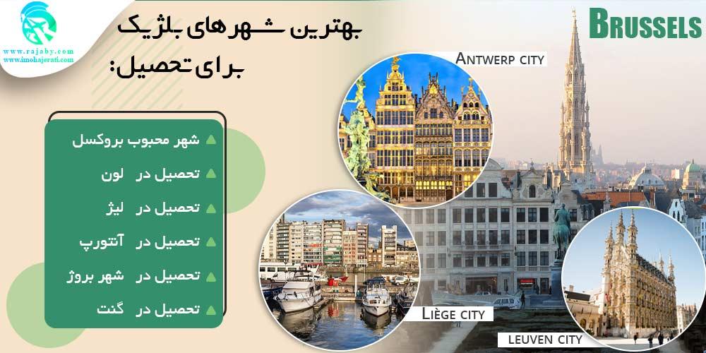 بهترین شهرهای بلژیک برای تحصیل