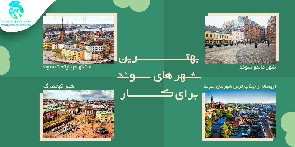بهترین شهر های سوئد برای کار