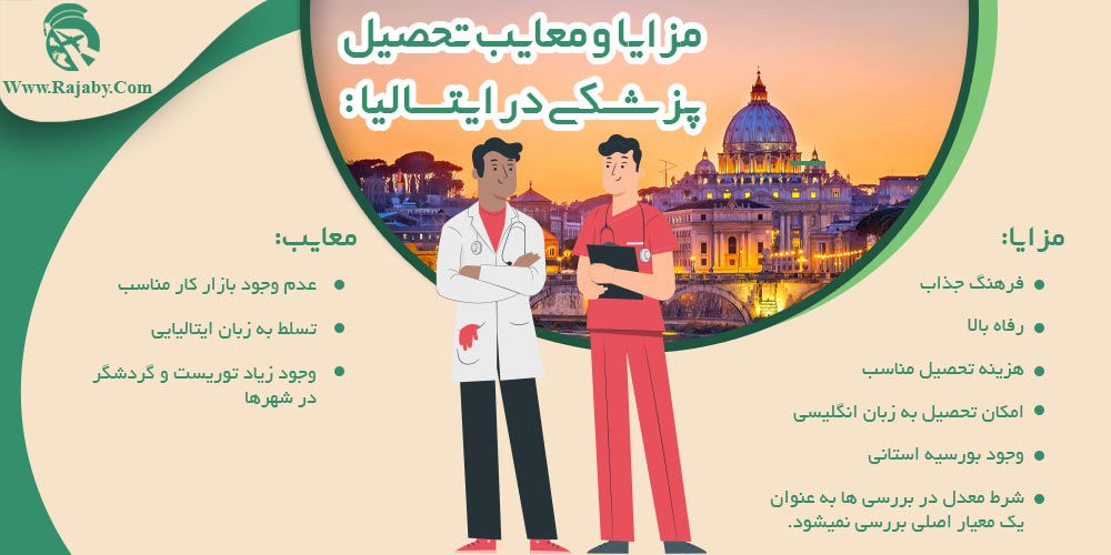 مزایا و معایب تحصیل پزشکی در ایتالیا