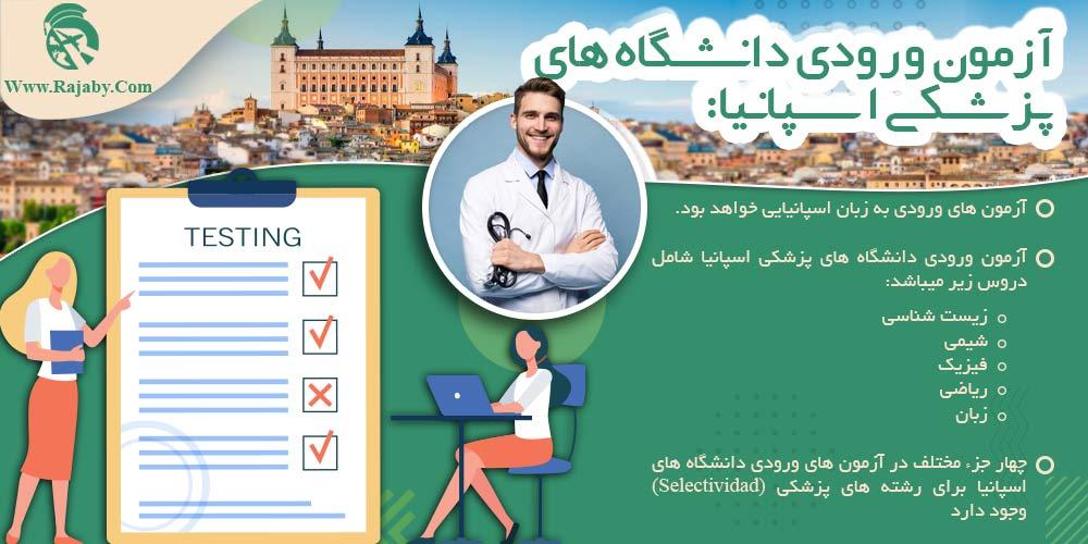 آزمون ورودی دانشگاه های پزشکی اسپانیا
