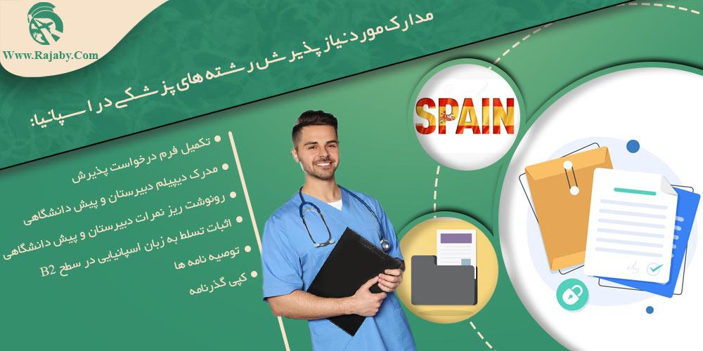 مدارک مورد نیاز پذیرش رشته های پزشکی در اسپانیا