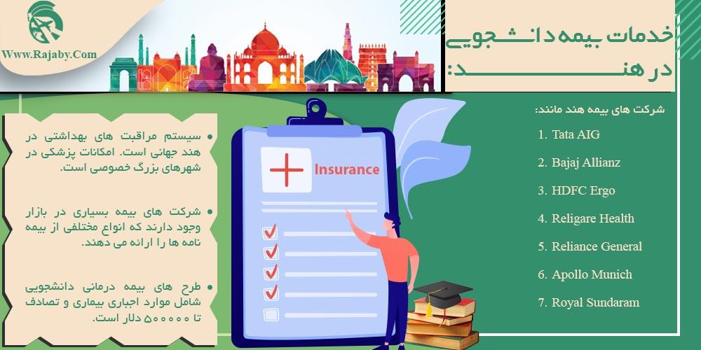 خدمات بیمه دانشجویی در هند