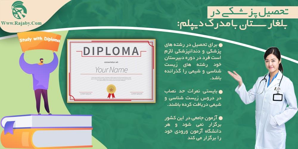 تحصیل پزشکی در بلغارستان با مدرک دیپلم