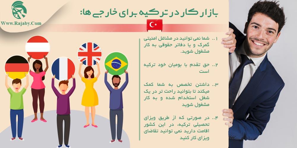 بازار کار در ترکیه برای خارجی ها