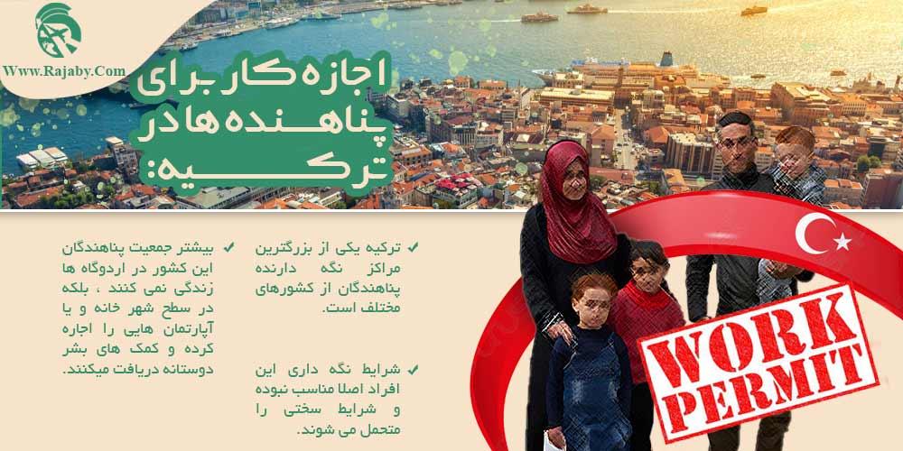 اجازه کار برای پناهنده ها در ترکیه