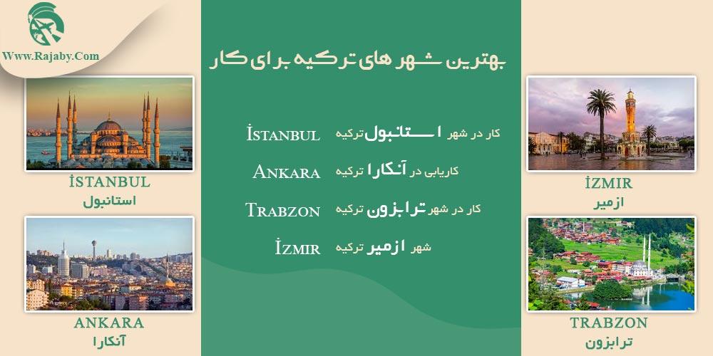 بهترین شهر های ترکیه برای کار