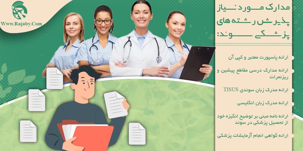 مدارک مورد نیاز پذیرش رشته های پزشکی سوئد
