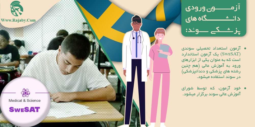 آزمون ورودی دانشگاه های پزشکی سوئد