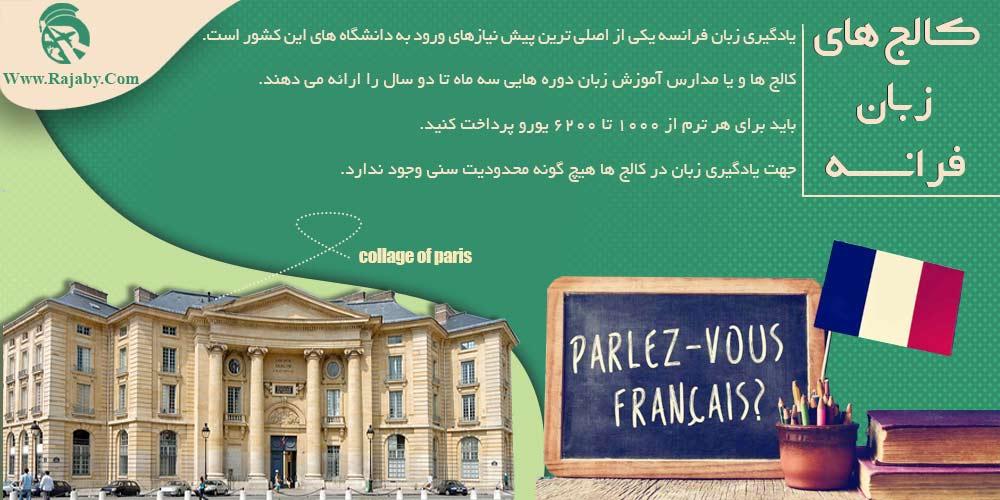 کالج های زبان فرانسه