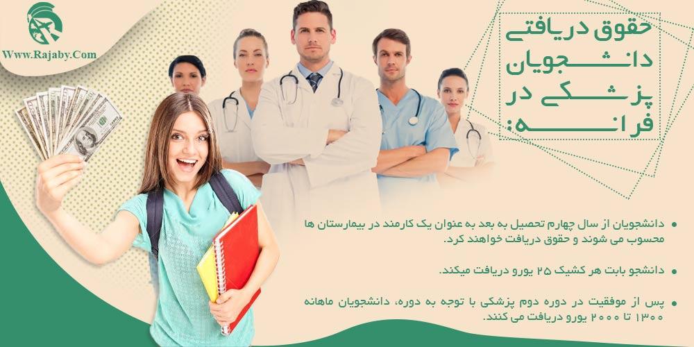 حقوق دریافتی دانشجویان پزشکی در فرانسه