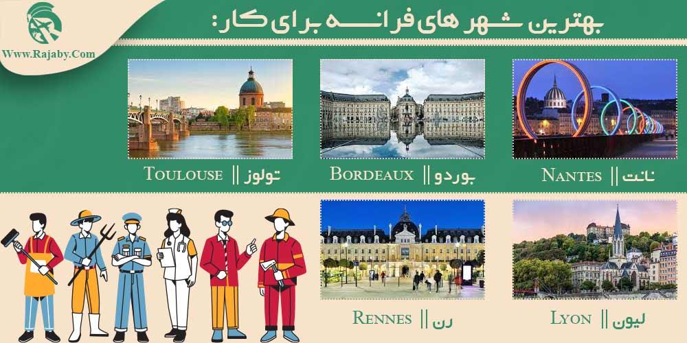 بهترین شهر های فرانسه برای کار