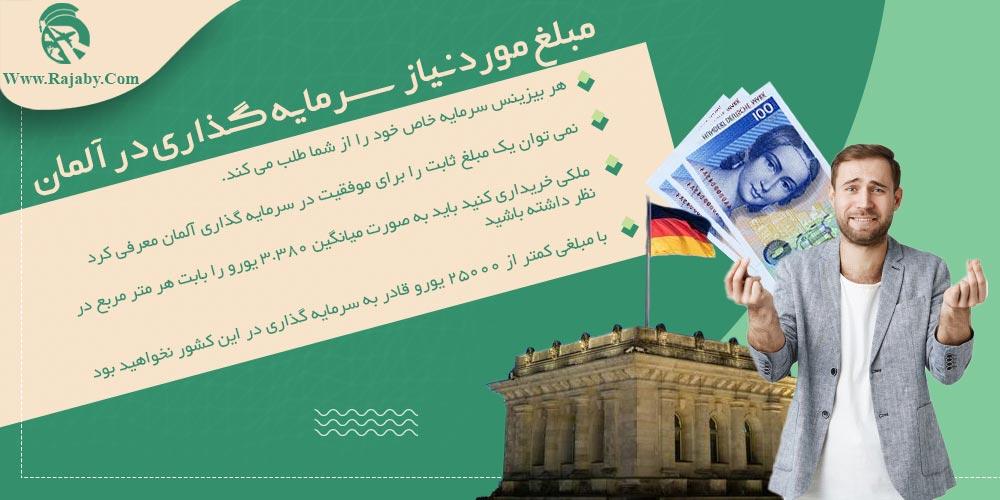 مبلغ مورد نیاز سرمایه گذاری در آلمان