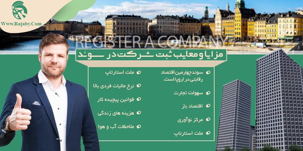مزایا و معایب ثبت شرکت در سوئد