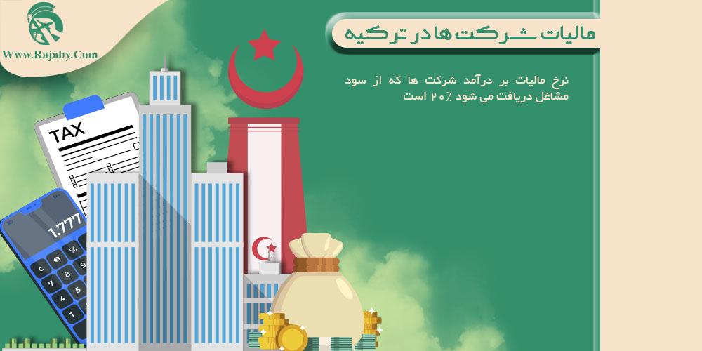 مالیات شرکت ها در ترکیه