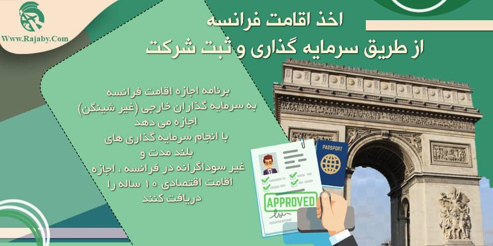 اخذ اقامت فرانسه از طریق سرمایه گذاری و ثبت شرکت