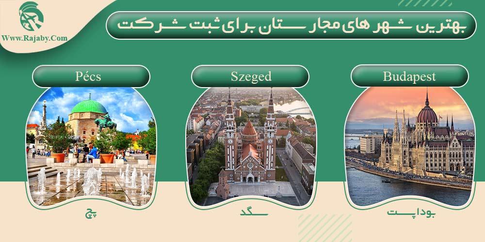 بهترین شهر های مجارستان برای ثبت شرکت