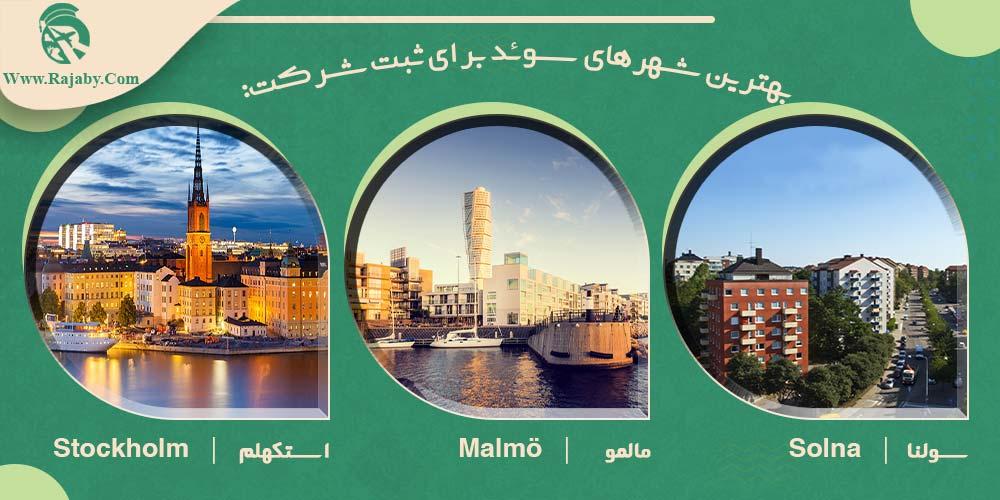 بهترین شهرهای سوئد برای ثبت شرکت